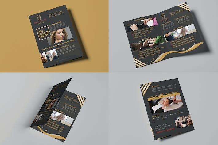 Thumbnail for Hair Stylist & Salon/ A5 Brochure Template
