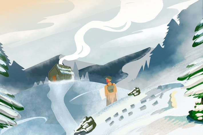 Thumbnail for Snow Journey - Ilustration Background