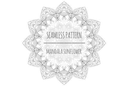 Mandala Sunflower – Seamless Pattern
