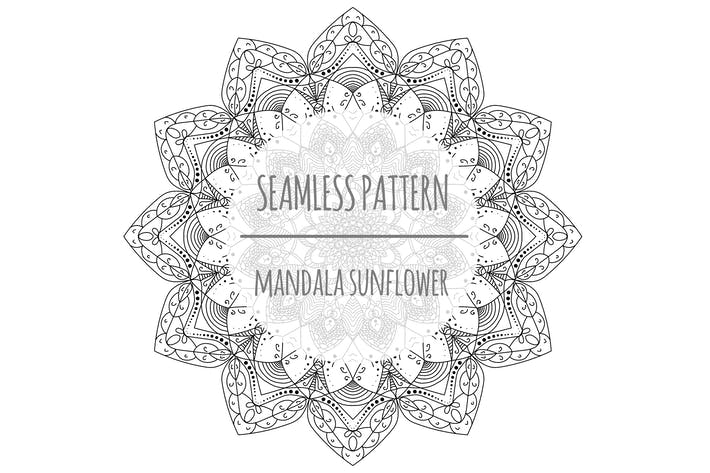 Thumbnail for Mandala Sunflower – Seamless Pattern
