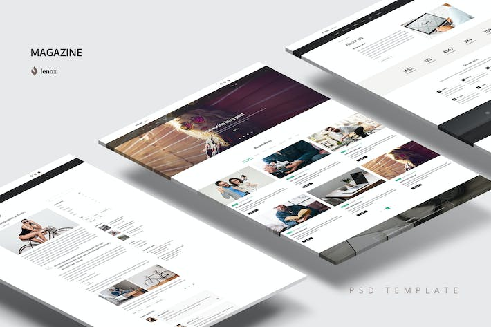 Thumbnail for Magazine PSD Template