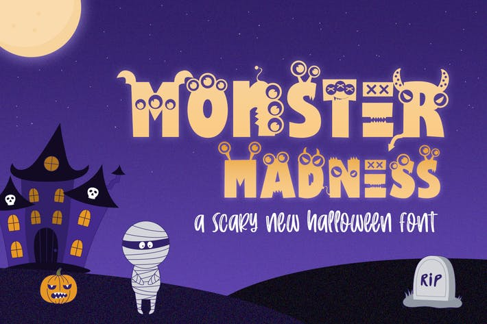 Thumbnail for Monster Madness Font