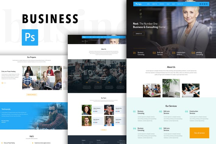 Cover Image For Business Consulting Agency PSD Template