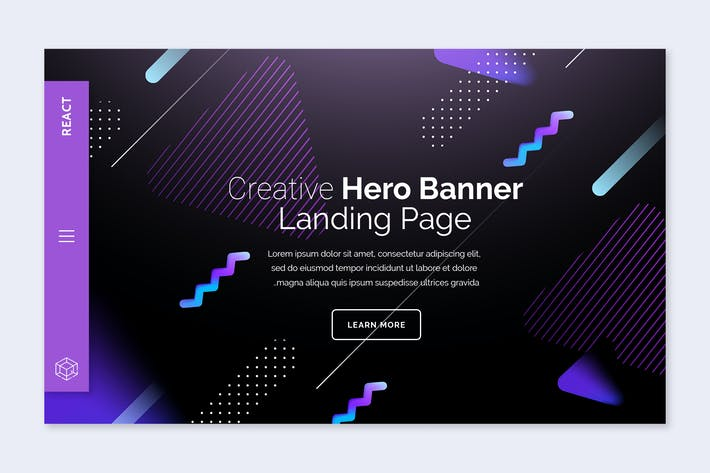 Thumbnail for React - Hero Banner Template