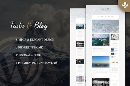 Tada & Blog - Personal Blog WordPress Template