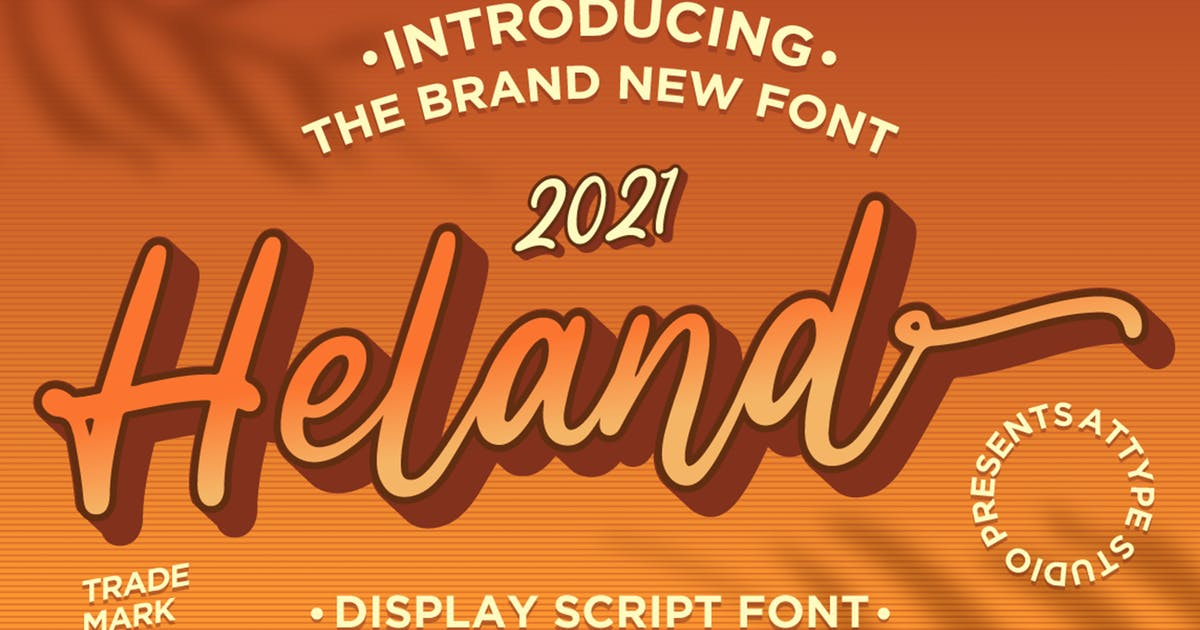 Download Heland - Display Script Font by Attype-Studio