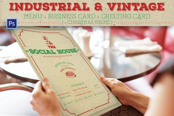 Cover Image For Industrial Vintage Menu