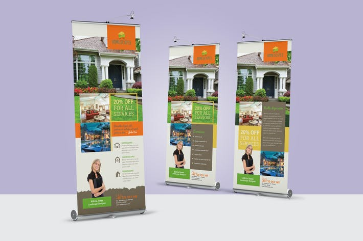 Thumbnail for Landscaping Roll-Up Banner