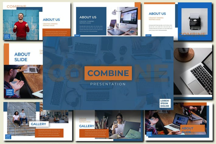 Thumbnail for Объединить Office - Шаблон Powerpoint для бизнеса