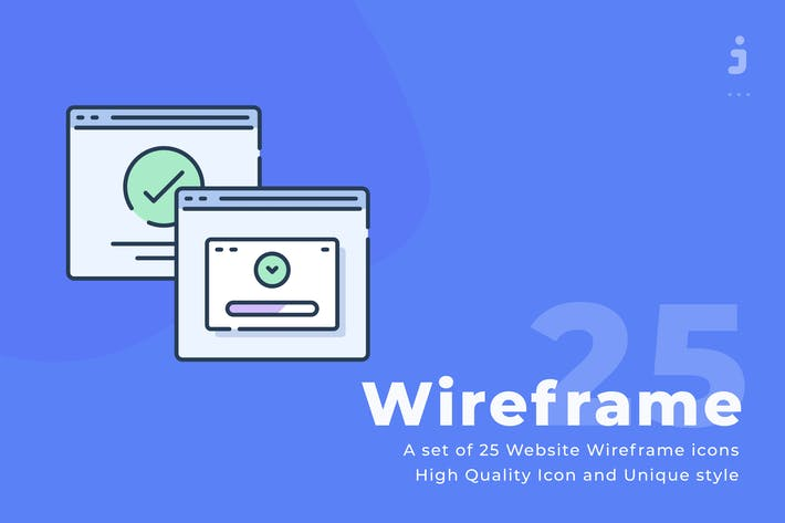 Thumbnail for 25 Web site wireframe icons - Web icon
