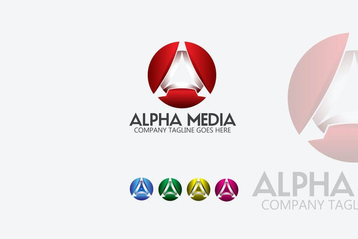 Thumbnail for Alpha Media Letter A 3D Logo