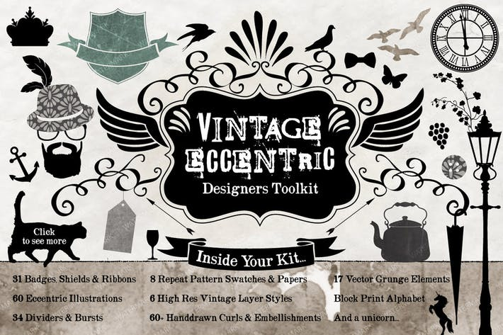 Cover Image For Vintage Eccentric Designers Toolkit