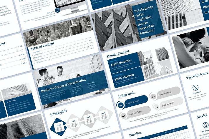 Thumbnail for Blue Proposal Presentation
