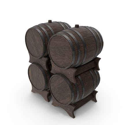 Деревянные бочки Набор Орех Темный