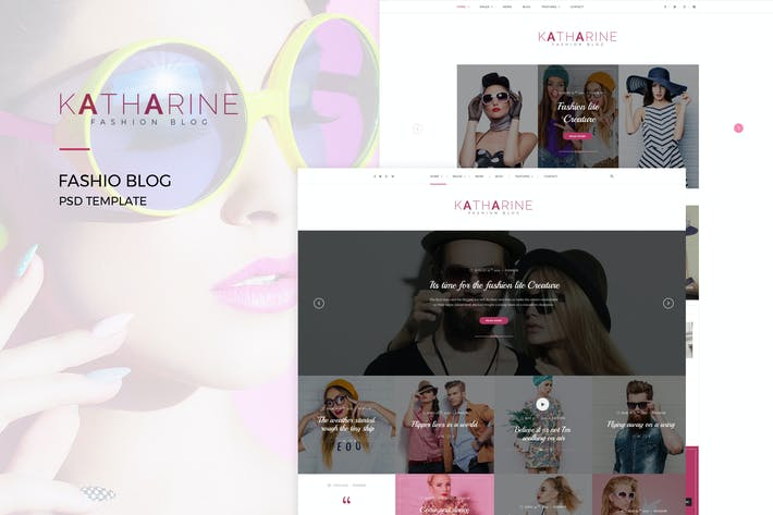 Thumbnail for Katharine : Fashio Blog PSD Template
