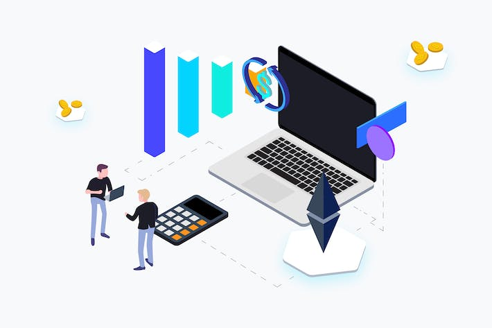 Thumbnail for Trading Coin Isometric - THM