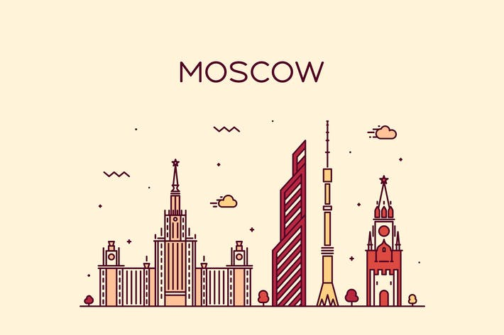 Thumbnail for Moscow skyline, Russia