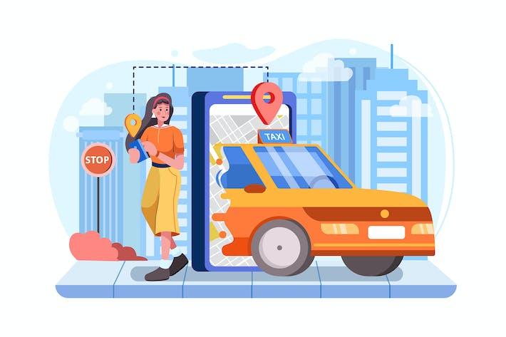 Thumbnail for Концепция приложение мобильных такси