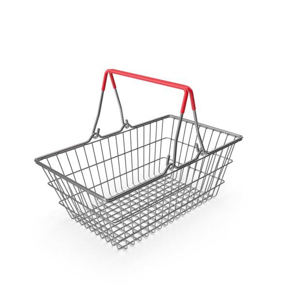 Empty Metal Shopping Basket