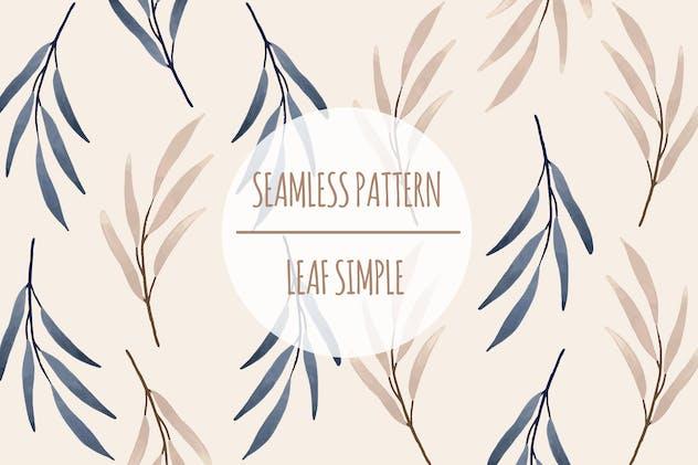 Leaf Simple – Seamless Pattern