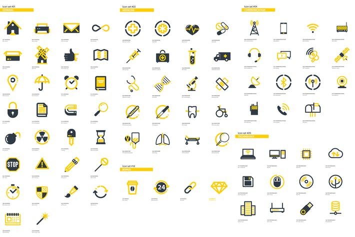 Thumbnail for 300+ Flat Icons Package