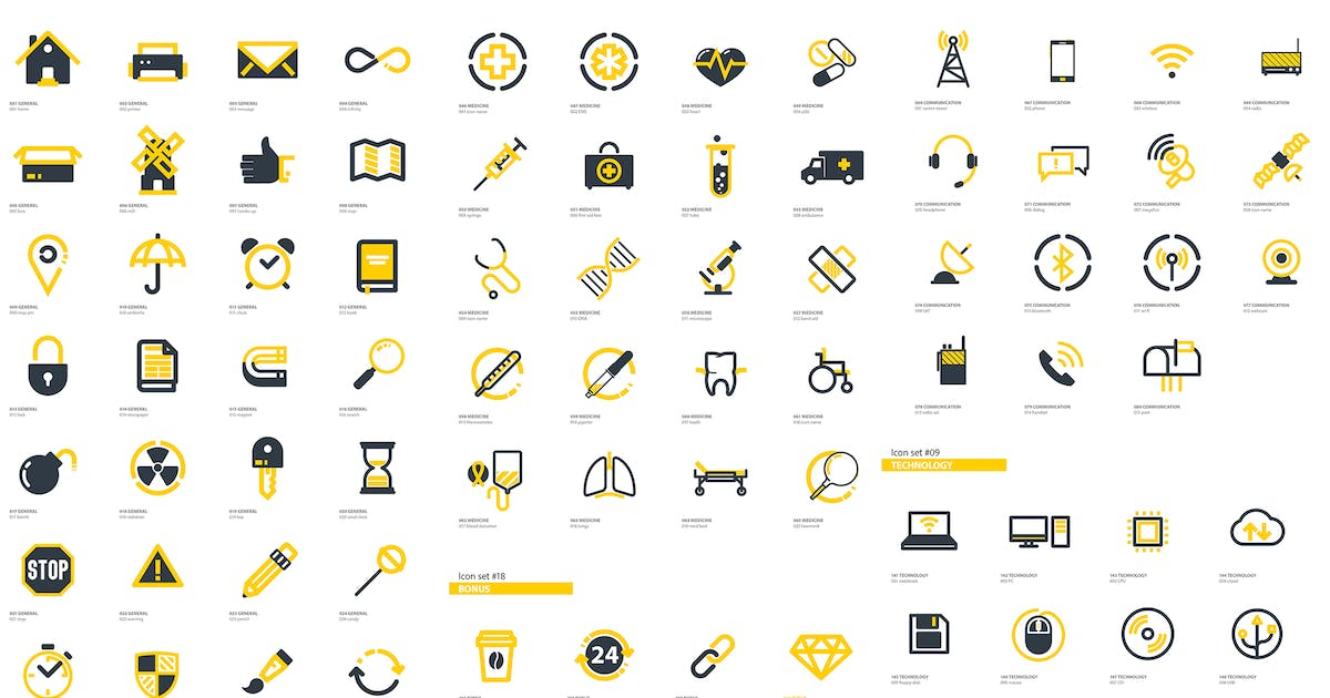 Download 300+ Flat Icons Package by MotionMediaGroup