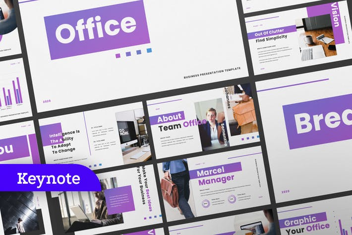 Office Business Keynote Presentation Template