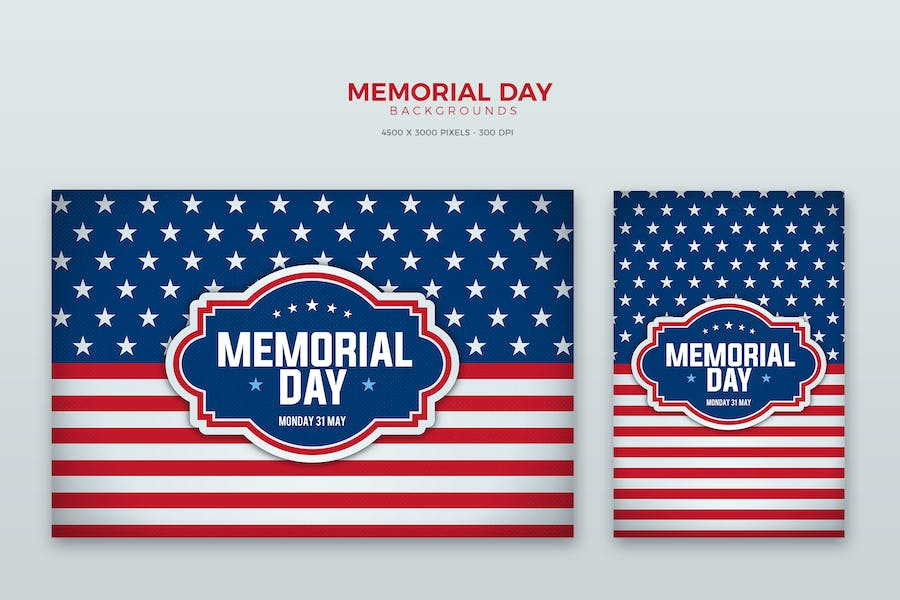 Memorial Day Card / Background