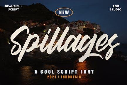 Spillages - Cool Script Font