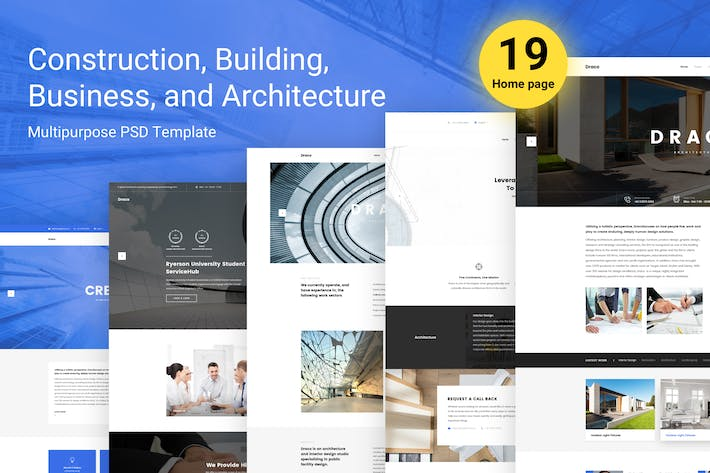 Thumbnail for Draco - Construction, Architecture, Business Psd
