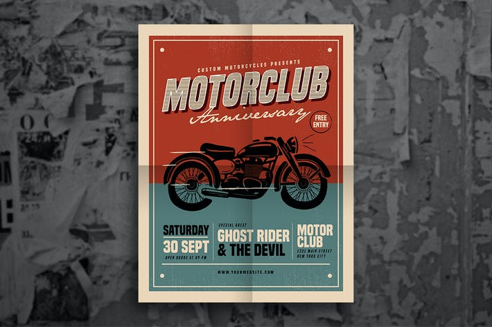 Thumbnail for Retro Motorclub event flyer