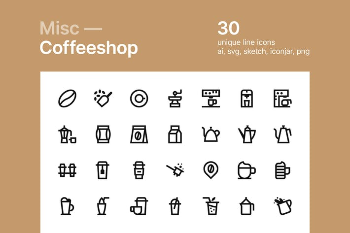 Thumbnail for Coffee shop icons