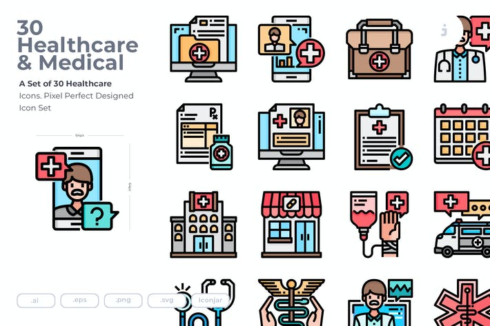 Thumbnail for 30 Healthcare Icons