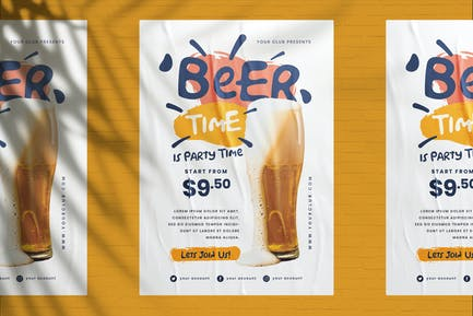 Beer House Promotion Flyer