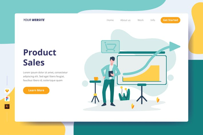 Thumbnail for Product Sales - Landing Page