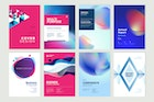 Set of brochure, annual report design templates