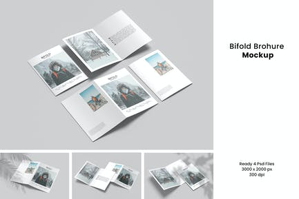 Bifold Brochure Mockup V.2
