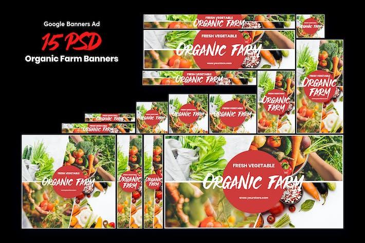 Thumbnail for Organic Farm Banners Ad