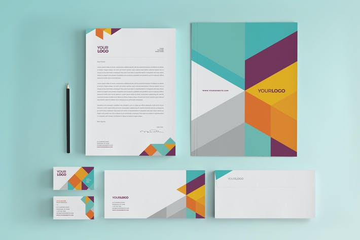 Thumbnail for Modern Colorful Stationery