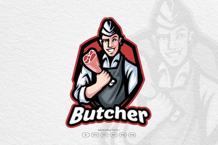 Chef Butcher Meat Beef Steak Cooking in Kitchen