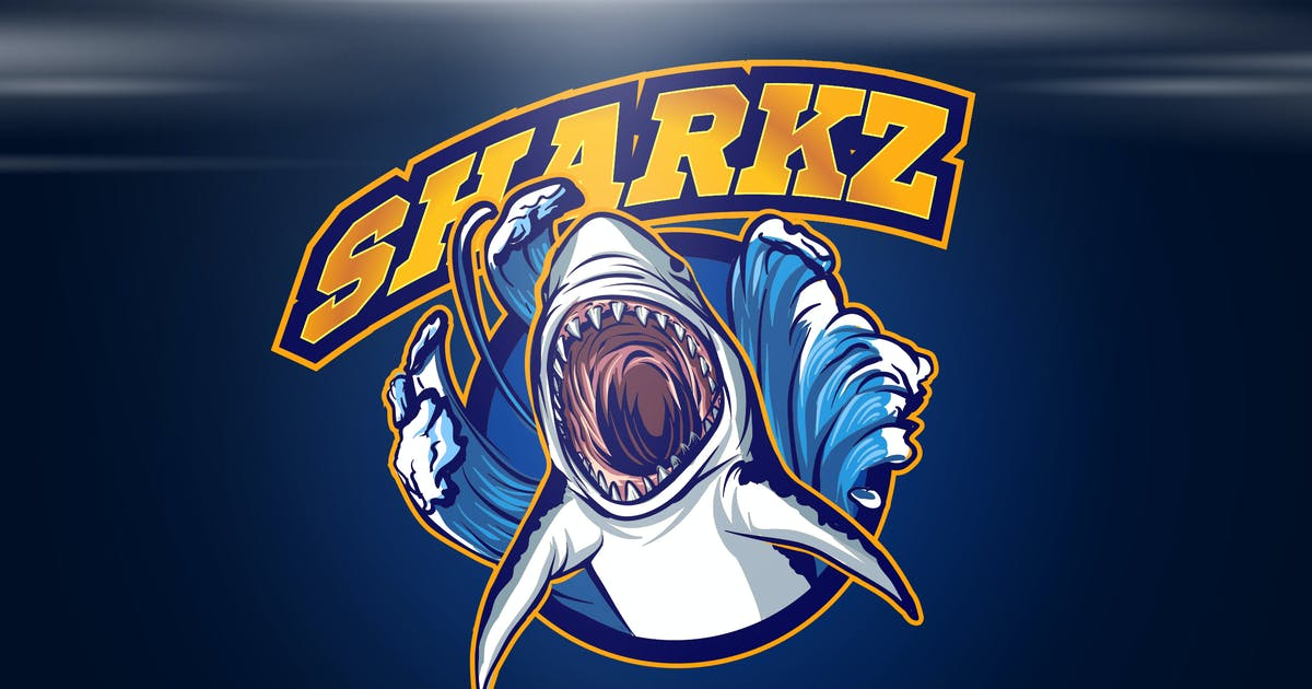 Shark Mascot Sports and Esports Logo by Suhandi
