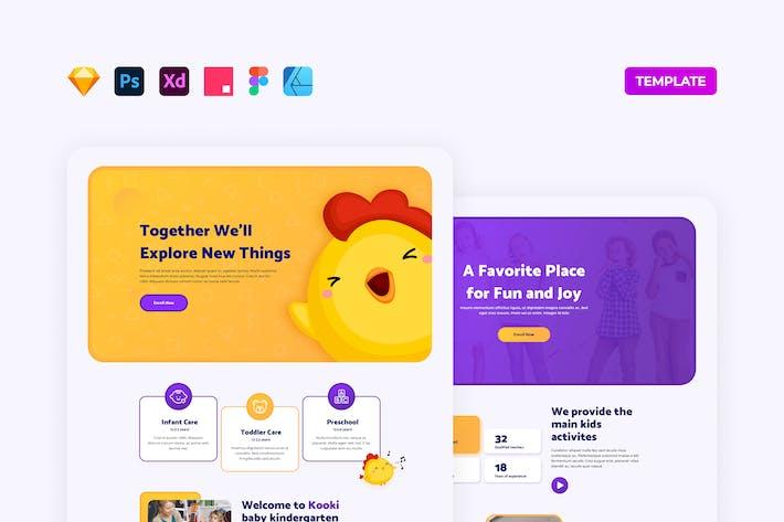 Thumbnail for Homepage-Vorlage für Kindergarten