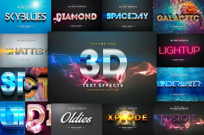 Thumbnail for 3D Text Effects Vol.1