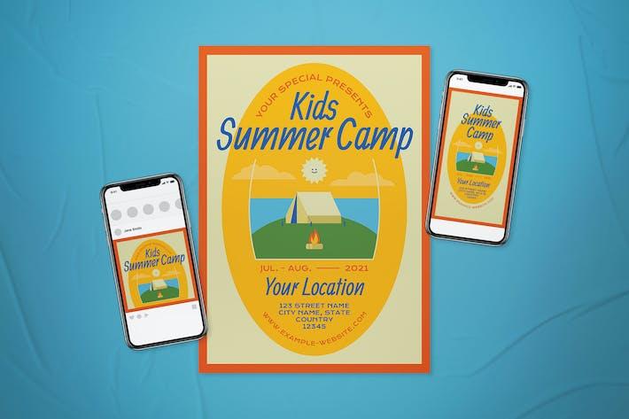 Kinder Sommercamp Flyer Set