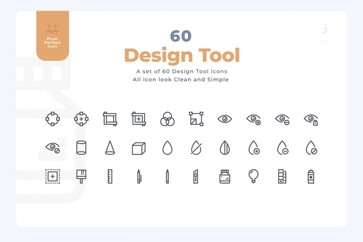 60 Design Tool Icons - Material Icon