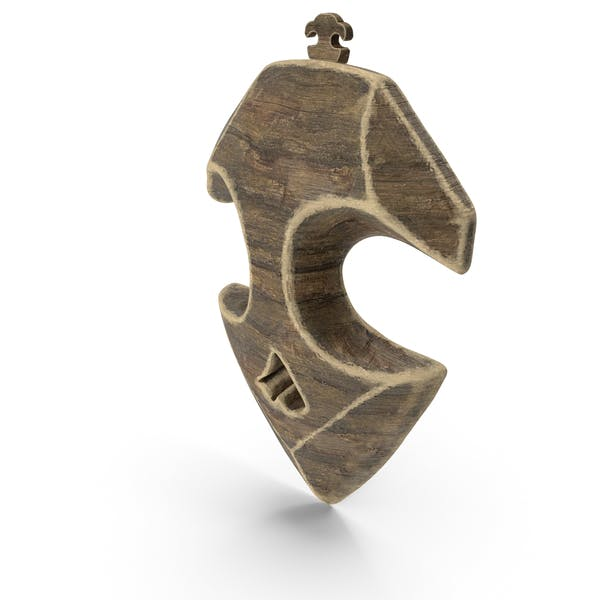 Reliced Wooden Pendant