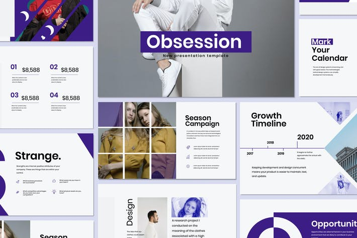 Thumbnail for Obsession - Minimal Google Slide Creative Business