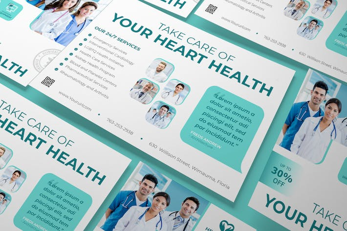 Thumbnail for Medical A5 Flyer PSD Template