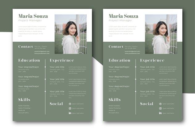 Minimalist CV Resume Template Vol. 02
