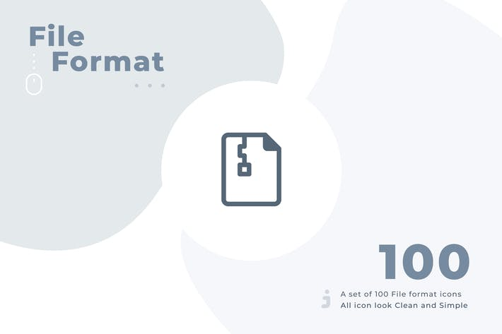 Thumbnail for 100 File format icon set - Material
